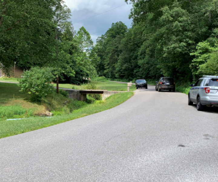 Kanawha County authorities spent much of the day searching the White Oak Drive area of Sissonville for a person of interest in a reported robbery and possible carjacking early Sunday morning.