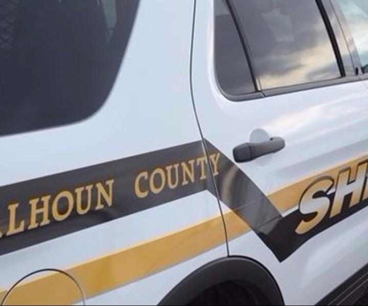 Calhoun County Sheriff Department vehicle.