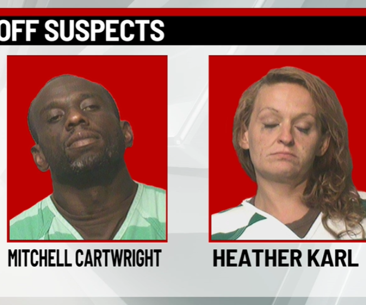 Two people were arrested in Des Moines