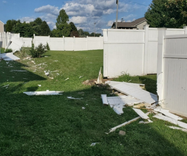 Residents of a South Point, Ohio, neighborhood woke up Sunday morning to quite a surprise after a car drove through their backyards, destroying portions of their fences.