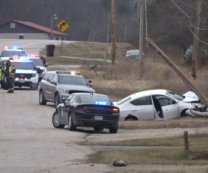 2 in custody after shooting near Eureka ends in police pursuit, crash in Franklin County